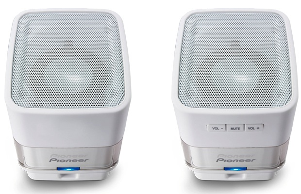 Pioneer S-MM201 USB Computer Speakers - White