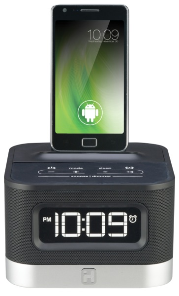 iHome iC50 Space Saver FM Stereo Alarm Clock Radio