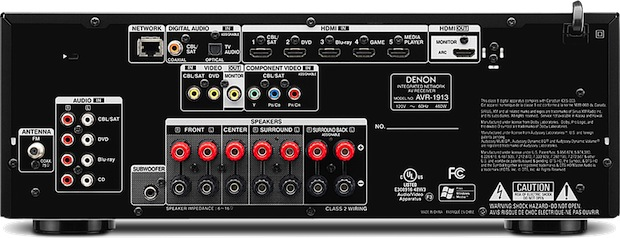 Denon AVR-1913 7.1-Channel A/V Receiver - back