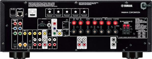 Yamaha RX-V673 A/V Receiver - Back