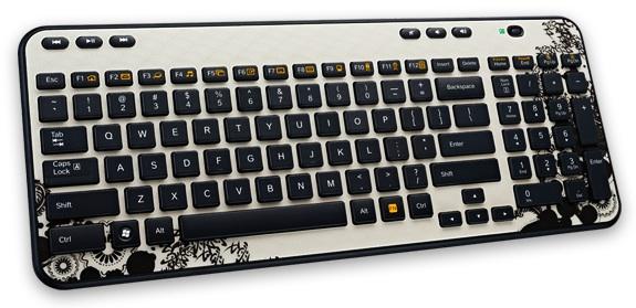 Logitech Global Graffiti Collection Wireless K360 Keyboard - Gears