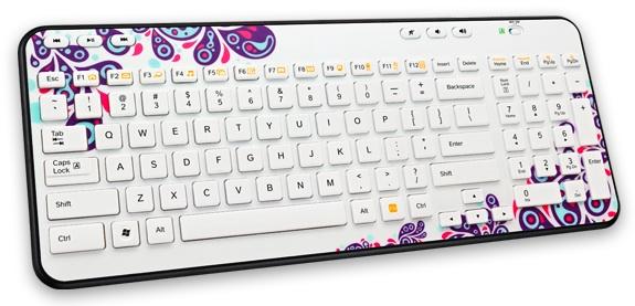 Logitech Global Graffiti Collection Wireless K360 Keyboard - Paisley