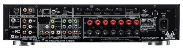 Marantz NR1603 A/V Receiver - Back