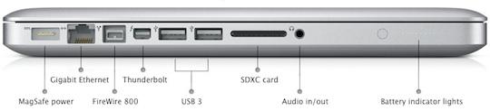 Apple MacBook Pro 13-inch - Ports