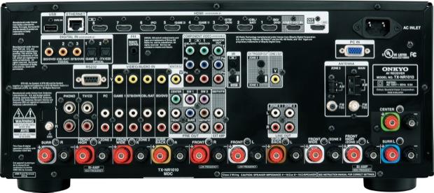 Onkyo TX-NR1010 A/V Receiver - back