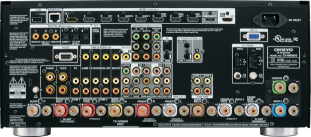 Onkyo TX-NR5010 A/V Receiver - back