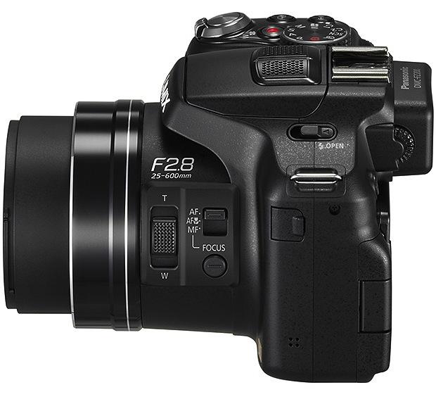 Panasonic DMC-FZ200 Lumix Super-Zoom Digital Camera - Side