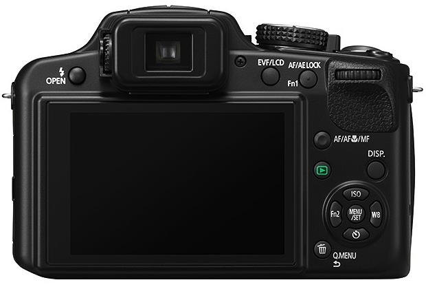 Panasonic DMC-FZ60 Lumix Super-Zoom Digital Camera - Back