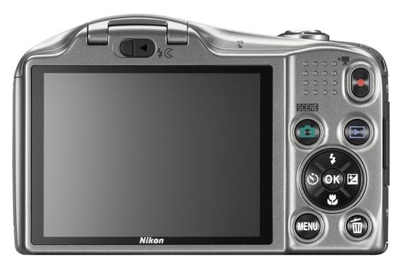 Nikon COOLPIX L610 Digital Camera - Back Silver