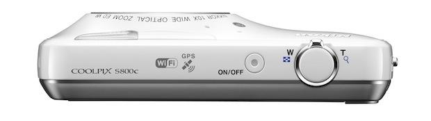 Nikon COOLPIX S800c Wi-Fi Digital Camera - Top