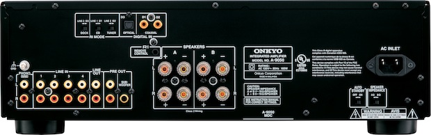 Onkyo A-9050 Stereo Integrated Amplifier - Back