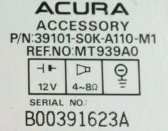 Acura Radio Code