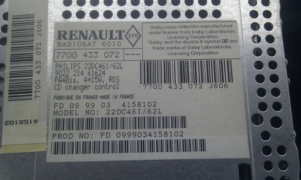 Archive through August 19, 2012 - Renault Scenic Radio Code