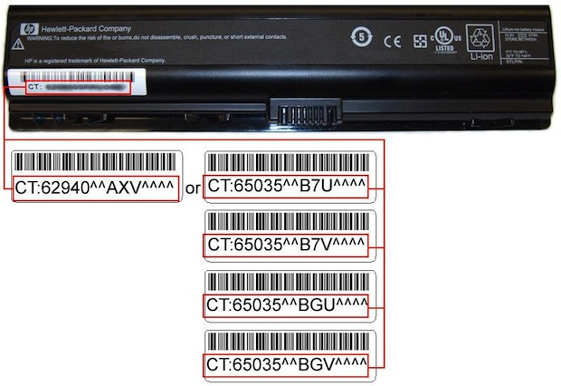 CT:62940 and 65035 Battery Recall