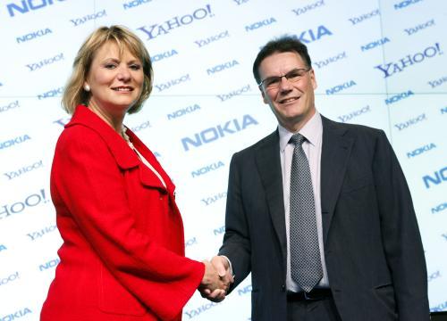 Carol Bartz and Olli-Pekka Kallasvuo