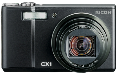 Ricoh CX1 Digital Camera - Front in Black
