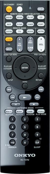 Onkyo TX-SR507 Remote Control