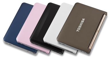 Toshiba mini NB205 colors