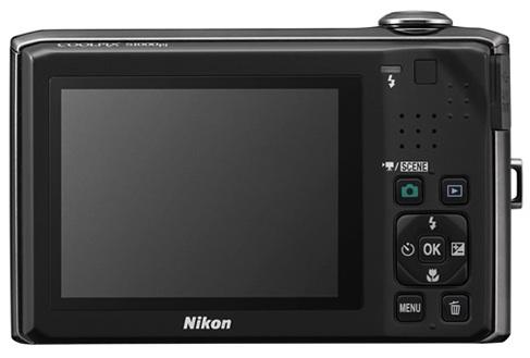 Nikon CoolPix S1000pj Digital Camera - Back