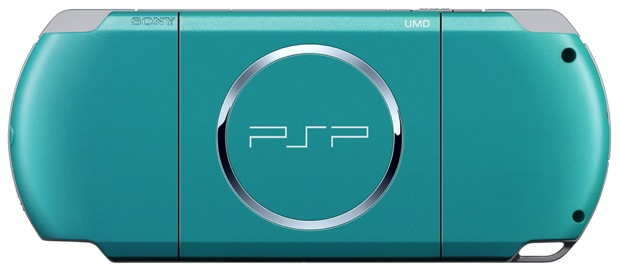 Sony PSP - Turquoise Green - back