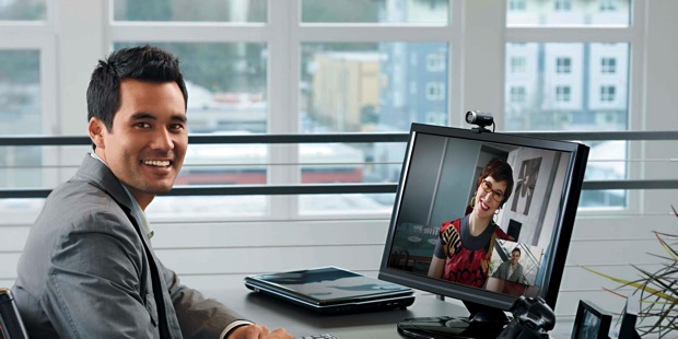 Microsoft LifeCam Cinema Webcam on Monitor