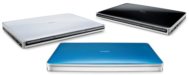 Nokia Booklet 3G - colors