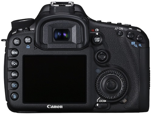 Canon EOS 7D Digital SLR Camera - Back