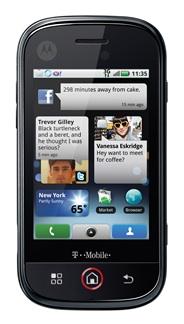 Motorola CLIQ With MOTOBLUR Smartphone