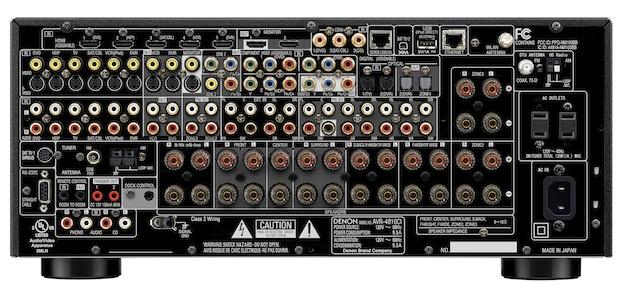 Denon AVR-4810CI A/V Receiver - Back