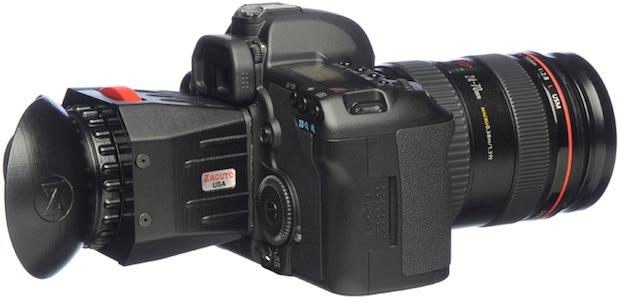 Zacuto Z-Finder V2 DSLR Optical Viewfinder on Camera