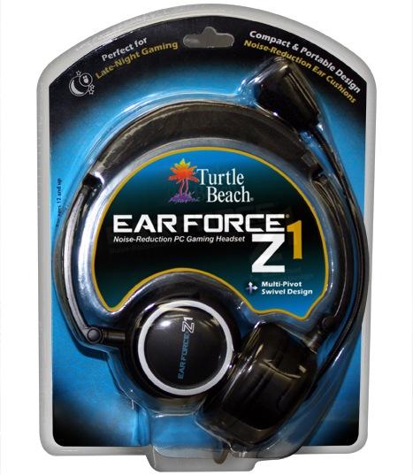 Turtle Beach Ear Force Z1 Gaming Headset Packaging