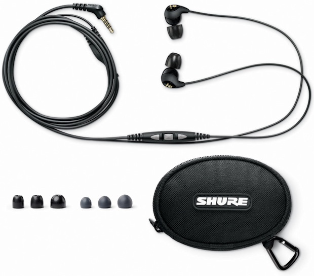 Shure SE115m+ Sound Isolating Headset with Remote and Mic Accessories