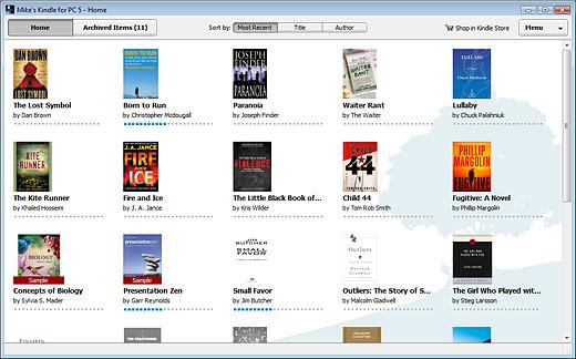 Amazon Kindle for PC Screenshot
