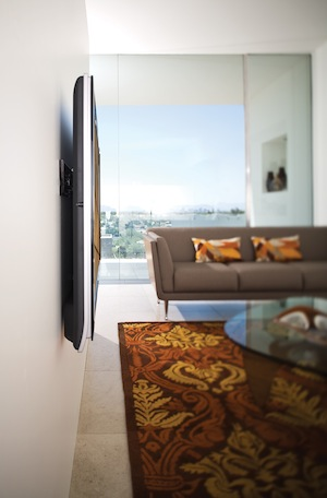 OmniMount VFX VideoBasics Low Profile Flat Panel TV Mount Lifestyle