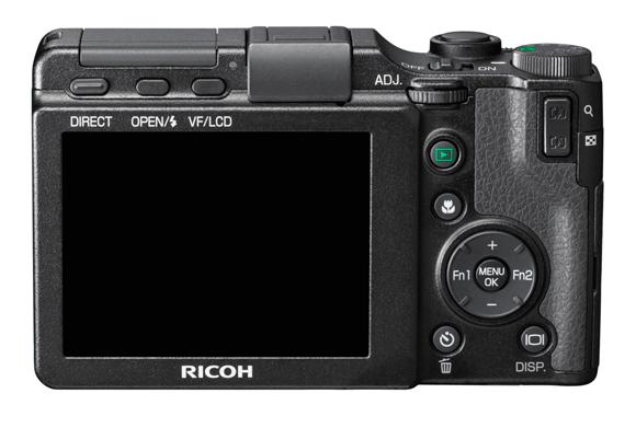 Ricoh GXR Digital Camera - Back