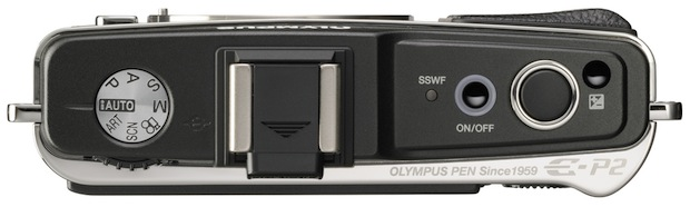 Olympus PEN E-P2 - top view
