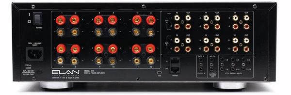 ELAN D12 Multi-Channel Amplifier - Back