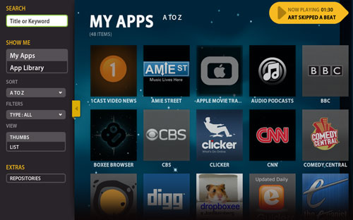 Boxee Screenshot My Apps
