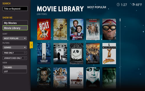 Boxee Screenshot My Movies