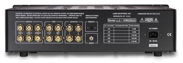 Lamm Industries LL2.1 Preamplifier - Rear