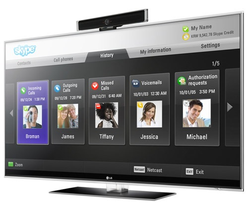 Skype on LG TV Screen