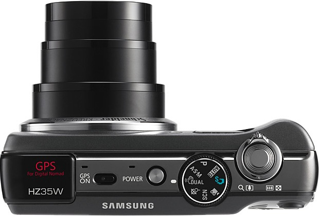 Samsung HZ35W Digital Camera - Top