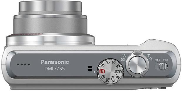 Panasonic DMC-ZS5 LUMIX Digital Camera - Top