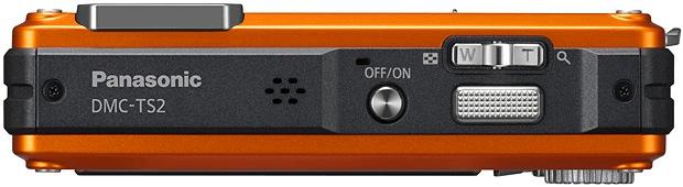 Panasonic DMC-TS2 LUMIX Digital Camera - Top