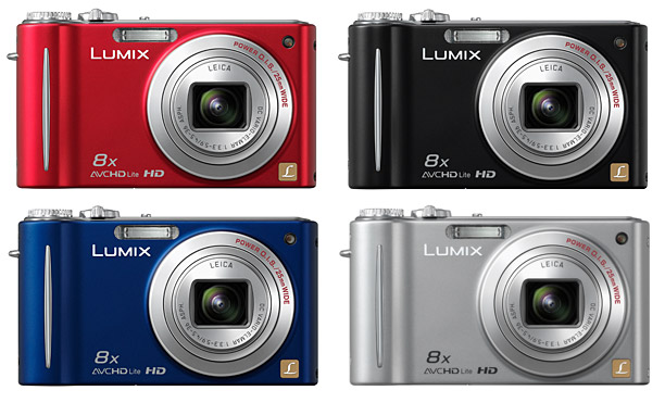 Panasonic DMC-ZR3 LUMIX Digital Camera - Colors