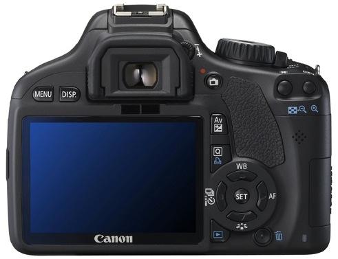 Canon EOS Rebel T2i Digital SLR Camera - Back