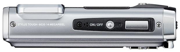 Olympus Stylus TOUGH-6020 Digital Camera - top