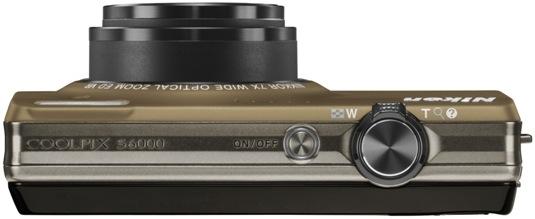 Nikon Coolpix S6000 Digital Camera - top