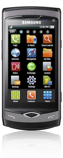 Samsung Wave S8500 Smartphone - front