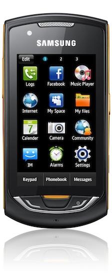 Samsung Monte S5620 Smartphone - front